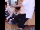 Here's a compilation of namjoon being a huge baby over the tumbling monkeys game