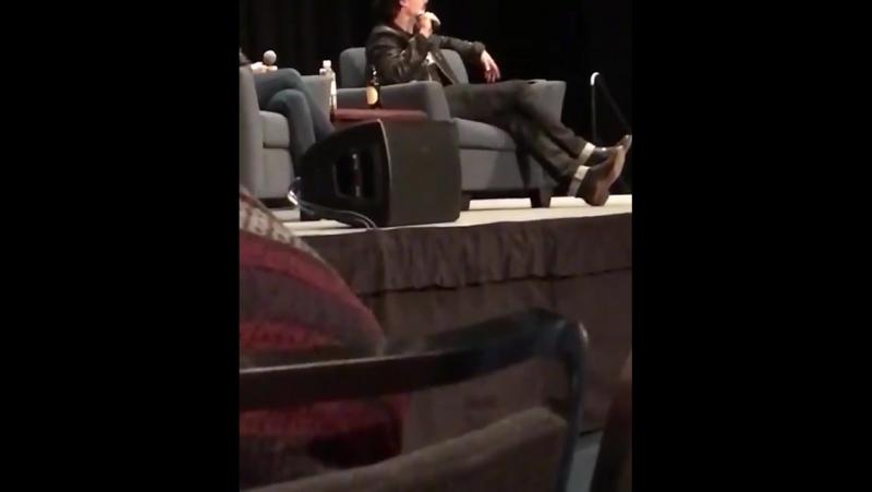 Ian talking about a scene he filmed in 3x01 of vampire diari