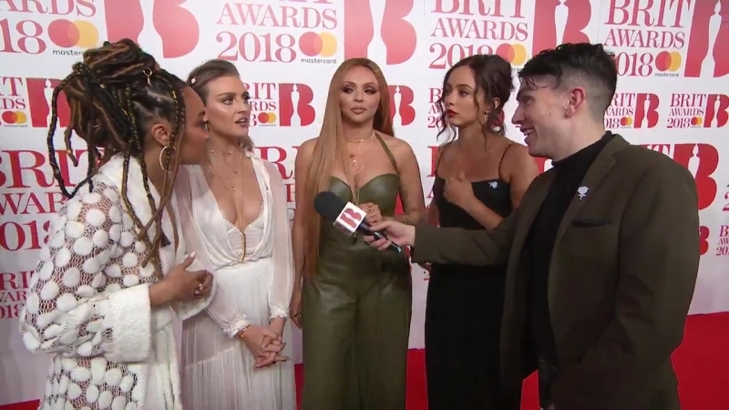 Little Mix being interviewed at the Brits ! BRITs