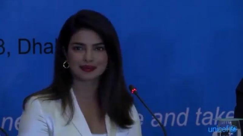 Press Conference with UNICEF Goodwill Ambassador Priyanka Chopra