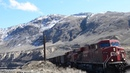 CP Coal Train Breaks Apart !! Goes into Emergency Drone
