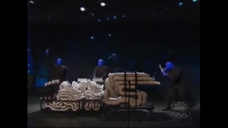 Blue man group - I feel love Leno