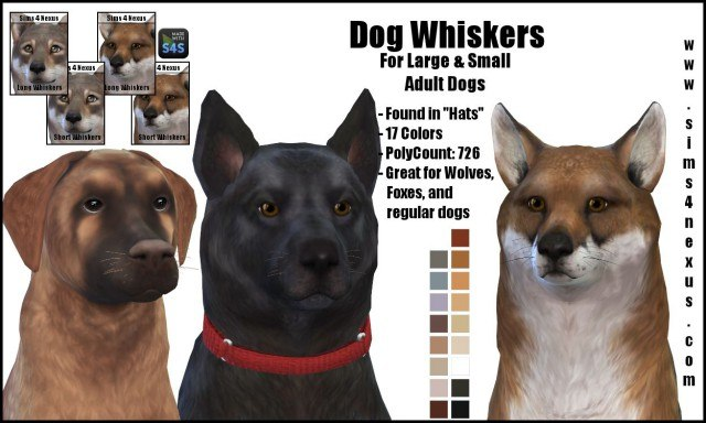 Dog Whiskers by sims4nexus