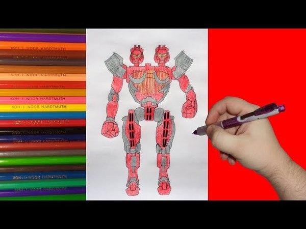 How to draw robot Twin Sities Real Steel Как нарисовать робота Твин Ситис