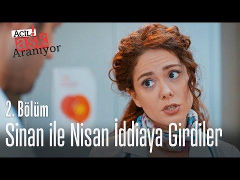Sinan ile Nisan iddiaya girdiler - Acil Aşk Aranıyor 2. Bölüm