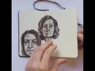 Sketchbook journey by Gaia Alari