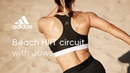 Beach HIIT circuit with Jaws | adidas women workouts