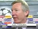 On This Day 1999 Camp Nou - - Sir Alex Ferguson's post match interview after completing the Treble. - - Football, bloody hell. m