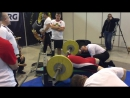 Золотой тигр 11, выполнил норматив МСМК Русский жим НАПштанга 55 кг