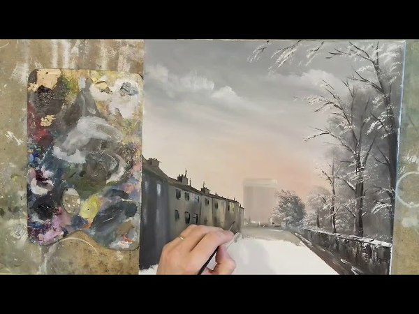 How to paint a cityscape in Oils