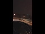 Дрифт маршрутки на парковке Магнита (Темерник) - 12.01.18