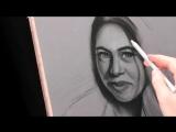 Портрет пастелью «художник Давид Степанян