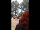 Танцуют девушки на празднике Тютчева в Овстуге