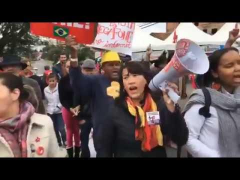 Resistência 74 dias Bom Dia ao pré candidato Lula direto da vigília Lula Livre em Curitiba