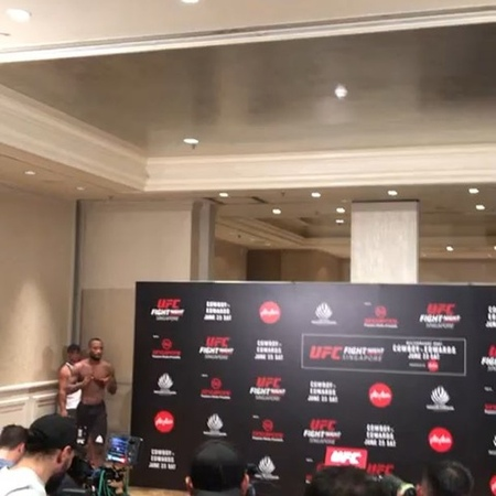 """Paradigm Sports Management on Instagram: """"Easy work. Rocky Edwards (@leon_edwardsmma) weighs in at 170 lbs for the main event at UFCSingapore Fig..."""