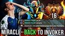 Miracle- FIRST TIME Invoker in New MMR Season, Road to TOP 1 Rank vs Trashtalker - 7.17 Dota 2