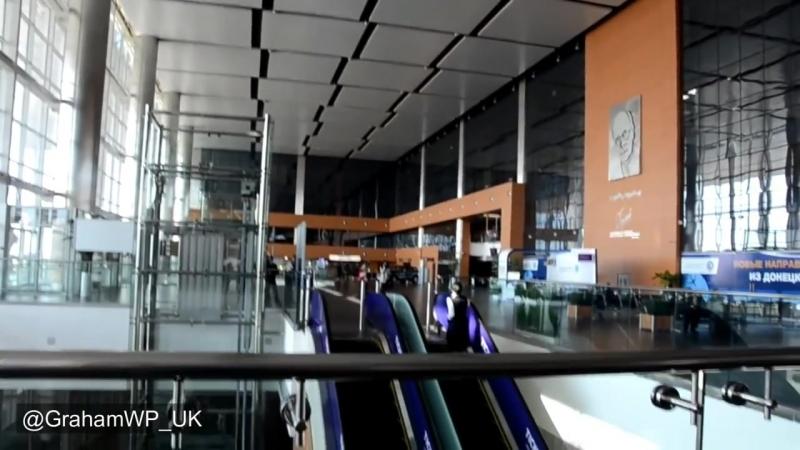 Аэропорт Донецк 18 месяцев спустя 2 Тогда и сейчас Эксклюзивные беспилотный кадры