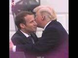 C'est l'amour entre Trump et Emmanuel Macron, ces doux baisers ne laissent pas la place au doute...