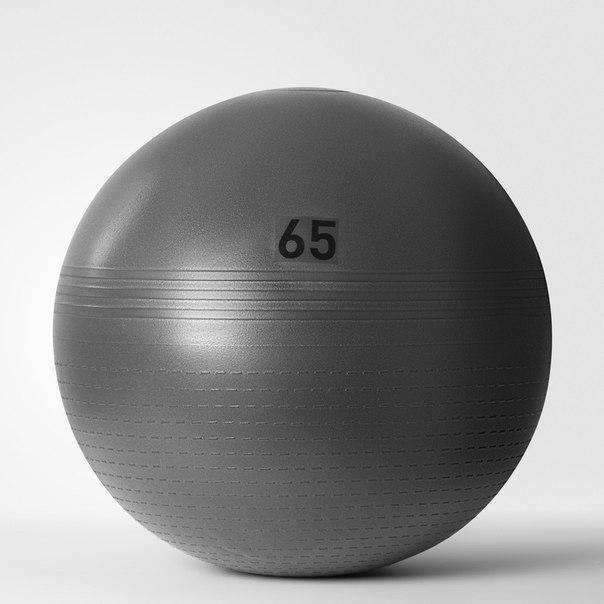 Гимнастический мяч Solid Grey (65 см)