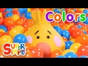 Super Duper Ball Pit | Learn About Colors | Green, Purple Orange
