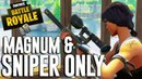Magnum and Snipers Only Fortnite Battle Royale Gameplay Ninja