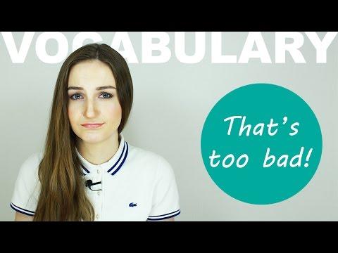 Выражение That's too bad! - Разговорный английский - English Spot