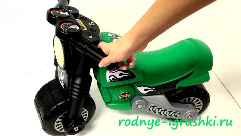 Каталка мотоцикл Моторбайк зеленый.mp4