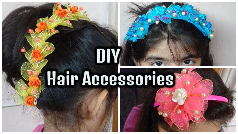 DIY Hair Accessories || Make Hair Accessories at home || Arushi Pahwa