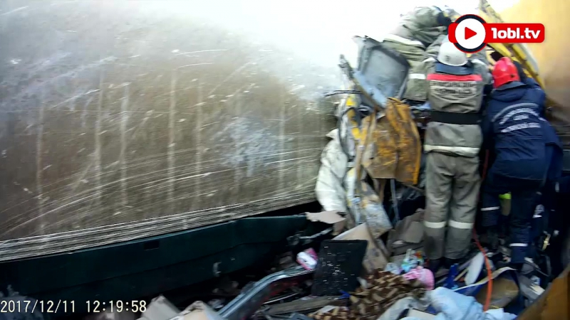 Столкновение семи фур на трассе сняли на видео
