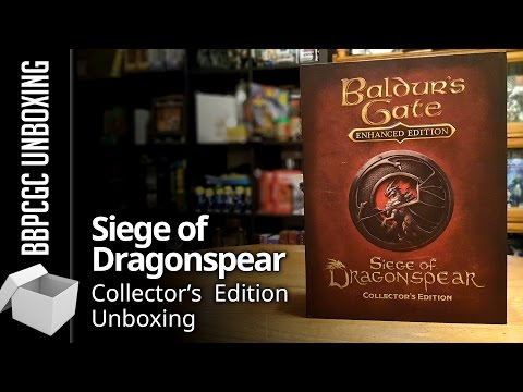 Baldur's Gate Siege of Dragonspear Collector's Edition Unboxing