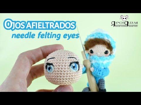 Ojos para muñecas amigurumi de estilo manga - Tutorial ojos amigurumi