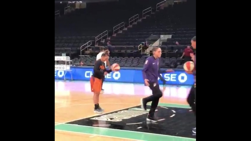 Diana Taurasi is READY for gameday here at MSG!