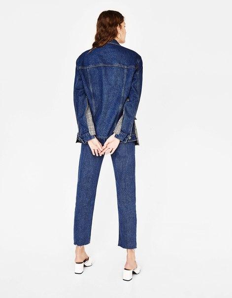 Комбинированный блейзер с джинсовыми вставками