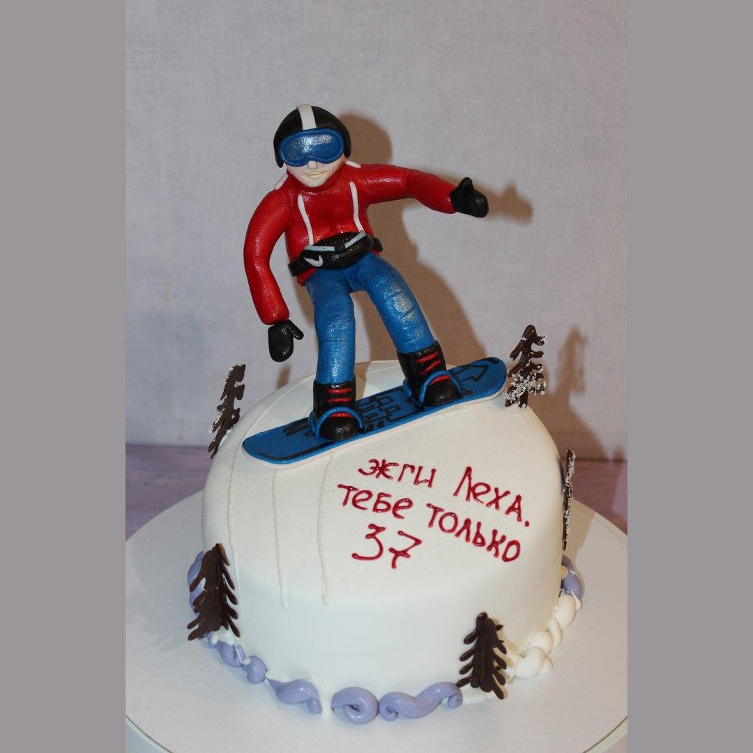 Торт для Сноубордиста (арт. 0016)
