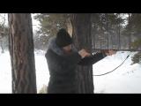 Лорка Тарасова в 1й раз стреляет из ружья