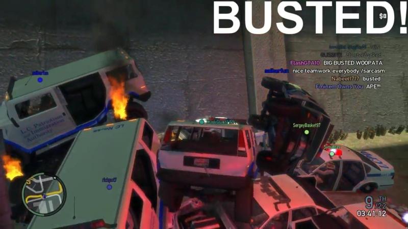 [gussi111] GTA IV - BUSTED x4 8-Track Demolition Derby