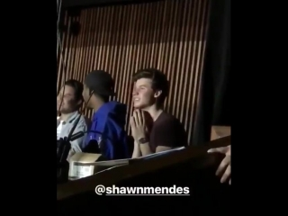 27 apiril: shawn watching camila's perform in toronto