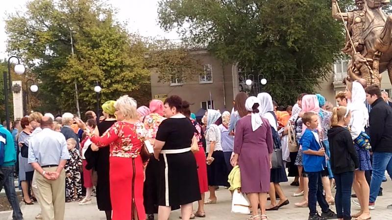 Памятник Святому Георгию Победоносцу Открытие в Георгиевске на День города 24 09 2017 г