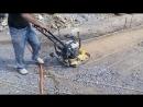 Уплотнение грунта перед заливкой бетоном Виброплита Vektor VPG 90 масса 90 кг
