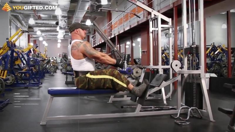Упражнения для спины. Тяга нижнего блока