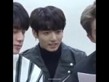 "jungkook's reaction when joon said ""if you had a pet dragon"""