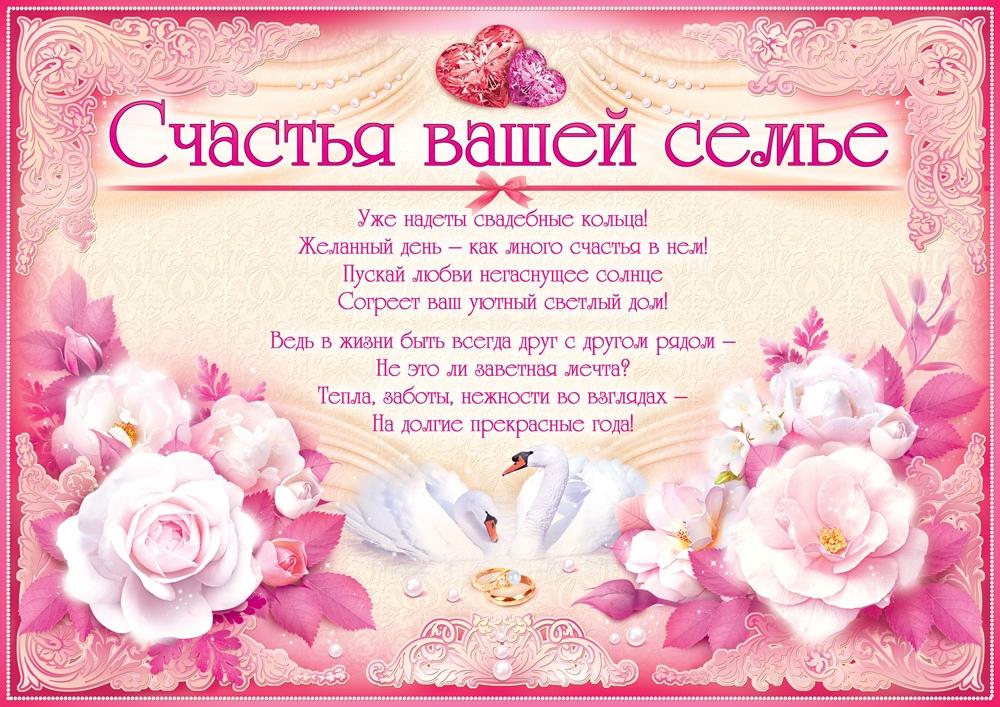 поздравления на свадьбе для всей семьи обычные