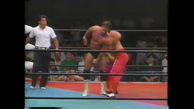 1991.07.06 - Doug Furnas/Dan Kroffat [c] vs. Bobby Fulton/Tommy Rogers [JIP]