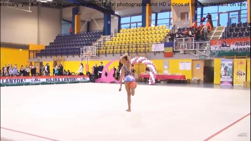 Сабина Бакатова - мяч Gracia Fair Cup, Budapest, Hungary 16-18.02.2018