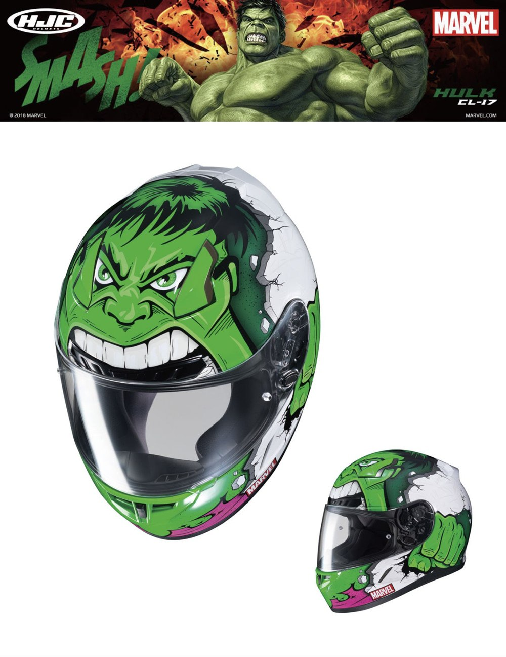 Новинки HJC х Marvel: CL-17 Hulk  и CL-17 Punisher II
