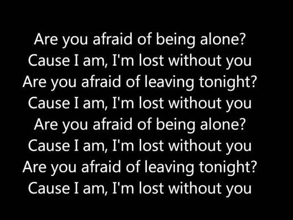 Blink 182 Im lost without you Lyrics