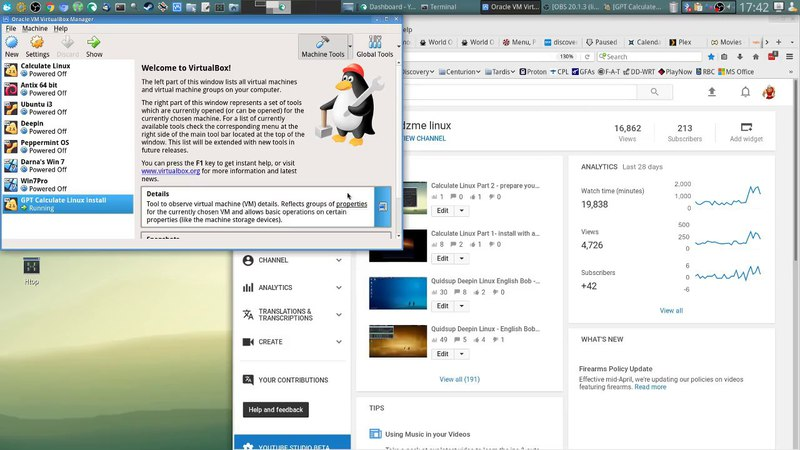 Calculate Linux Part 0.5 the easy install - dzmelinux GPT partition setup