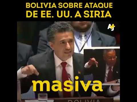 Ante el ataque a Siria, Bolivia expone a EE.UU. como criminales de guerra