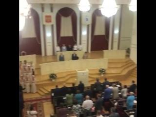 Закрытие торжественного заседания тридцать восьмой сессии Государственного Собрания Республики Марий Эл шестого созыва. 26 июля 2018