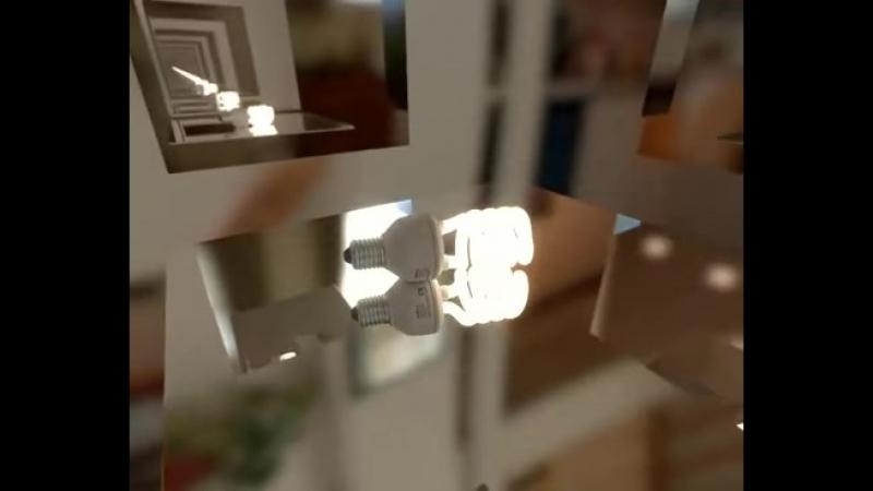 Что будет если поместить источник света внутрь зеркального куба
